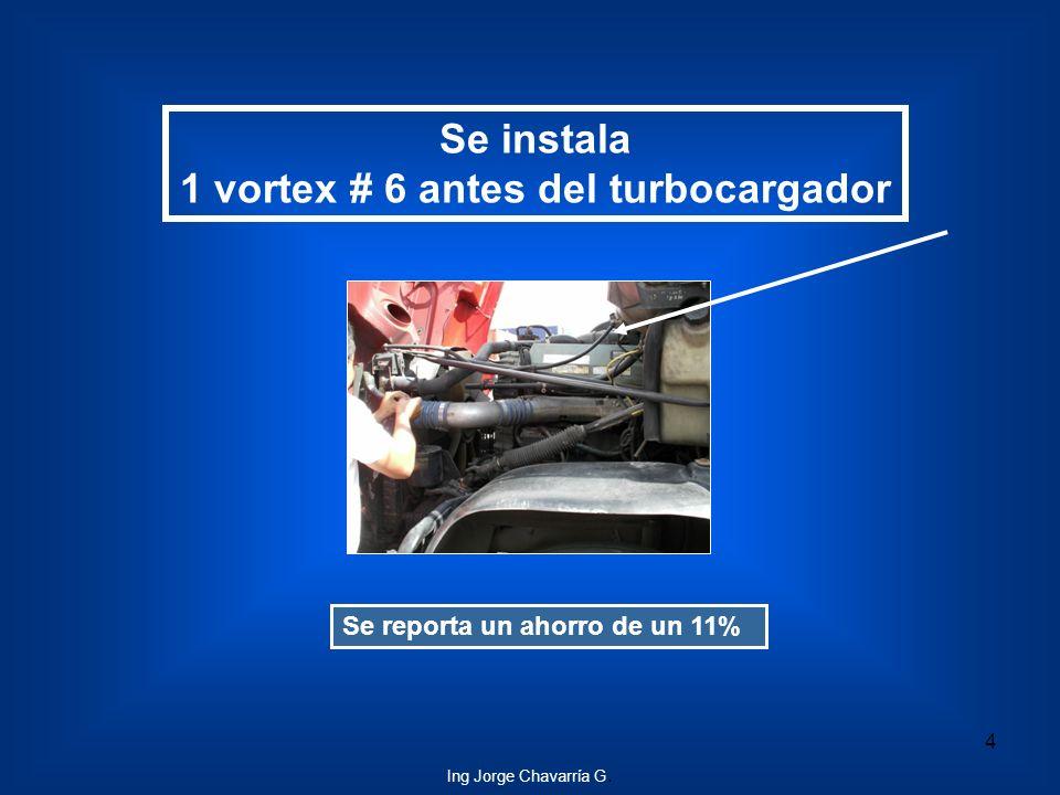 1 vortex # 6 antes del turbocargador