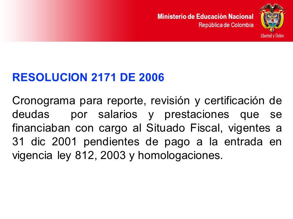 RESOLUCION 2171 DE 2006