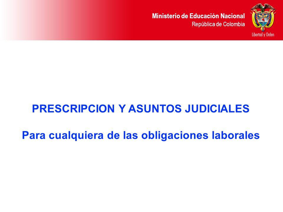 PRESCRIPCION Y ASUNTOS JUDICIALES