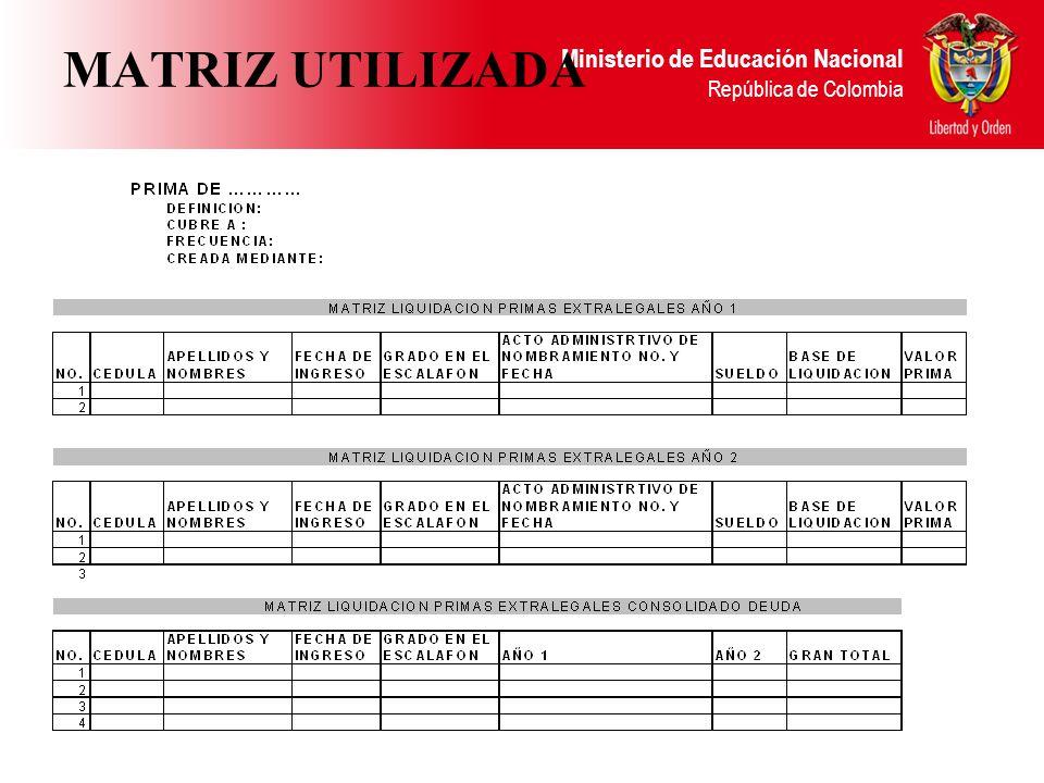 MATRIZ UTILIZADA