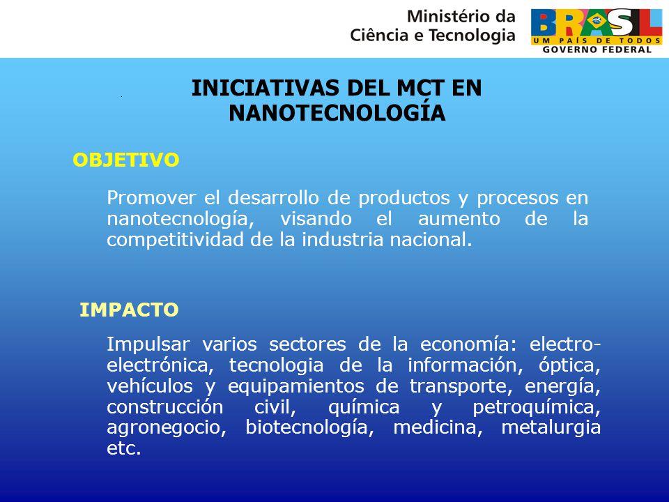 INICIATIVAS DEL MCT EN NANOTECNOLOGÍA