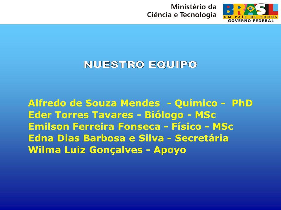 NUESTRO EQUIPO Alfredo de Souza Mendes - Químico - PhD