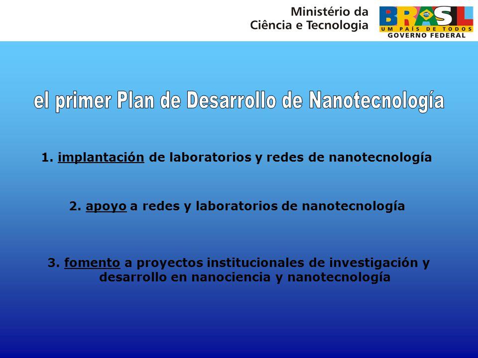 el primer Plan de Desarrollo de Nanotecnología