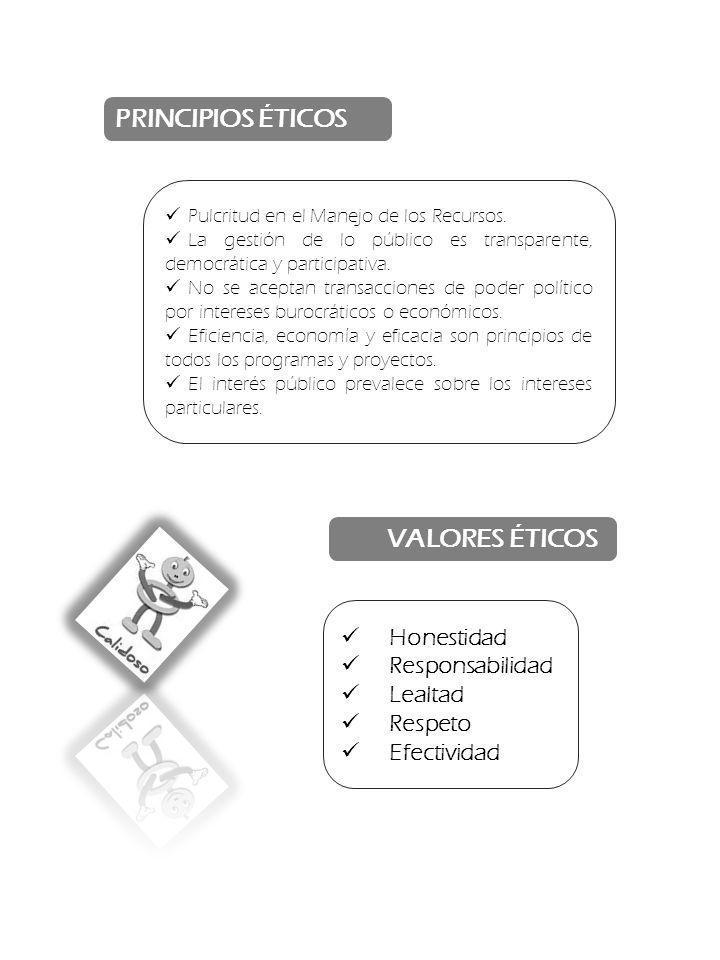 PRINCIPIOS ÉTICOS VALORES ÉTICOS Honestidad Responsabilidad Lealtad