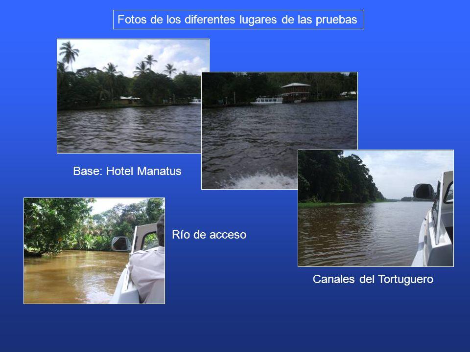 Fotos de los diferentes lugares de las pruebas