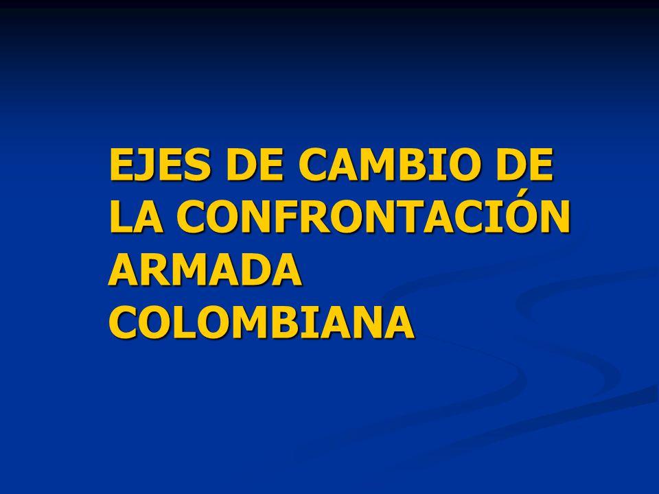 EJES DE CAMBIO DE LA CONFRONTACIÓN ARMADA COLOMBIANA