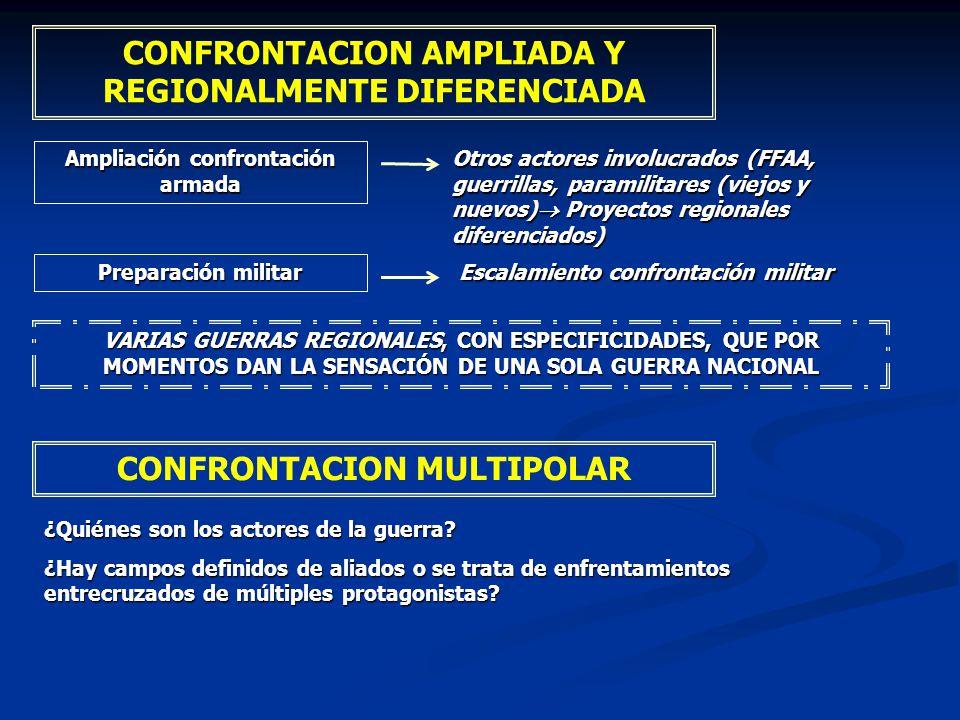 CONFRONTACION AMPLIADA Y REGIONALMENTE DIFERENCIADA