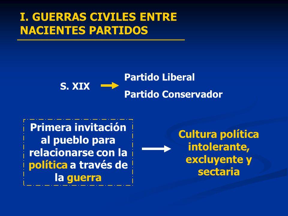Cultura política intolerante, excluyente y sectaria