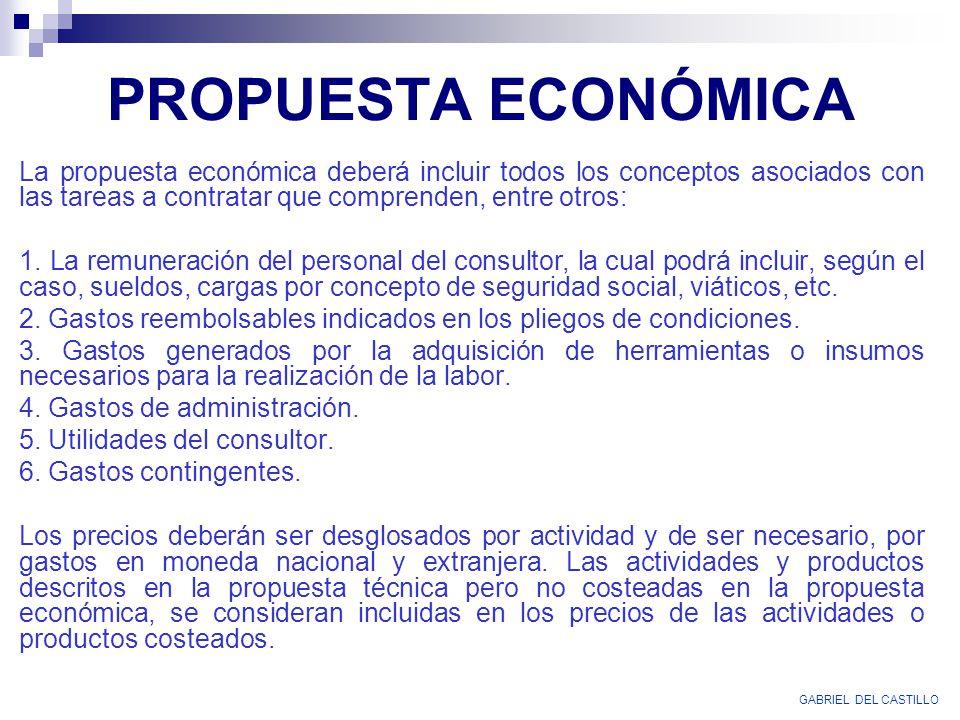 PROPUESTA ECONÓMICA GABRIEL DEL CASTILLO