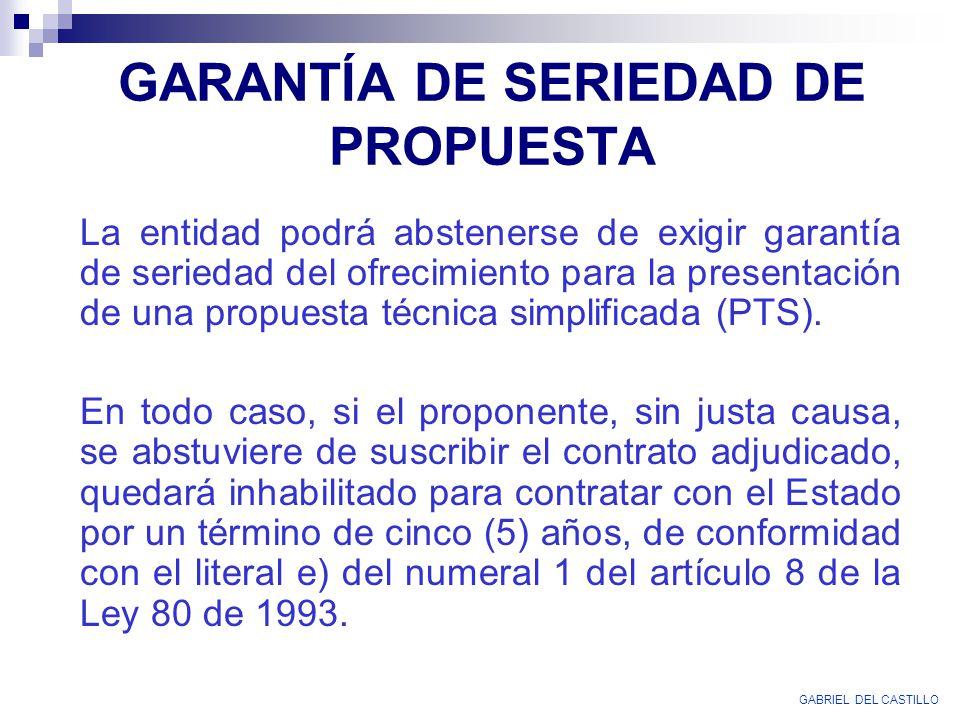 GARANTÍA DE SERIEDAD DE PROPUESTA