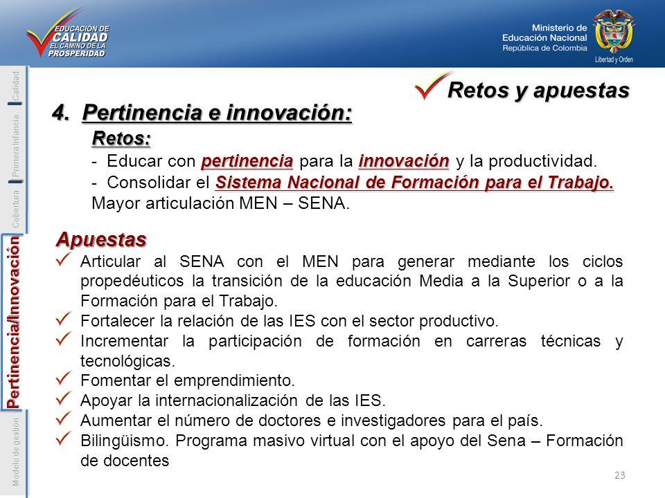 4. Pertinencia e innovación: