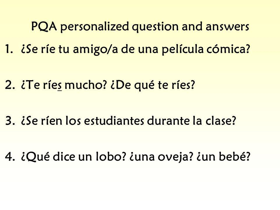 PQA personalized question and answers