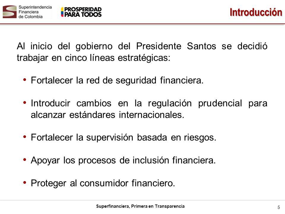Introducción Al inicio del gobierno del Presidente Santos se decidió trabajar en cinco líneas estratégicas: