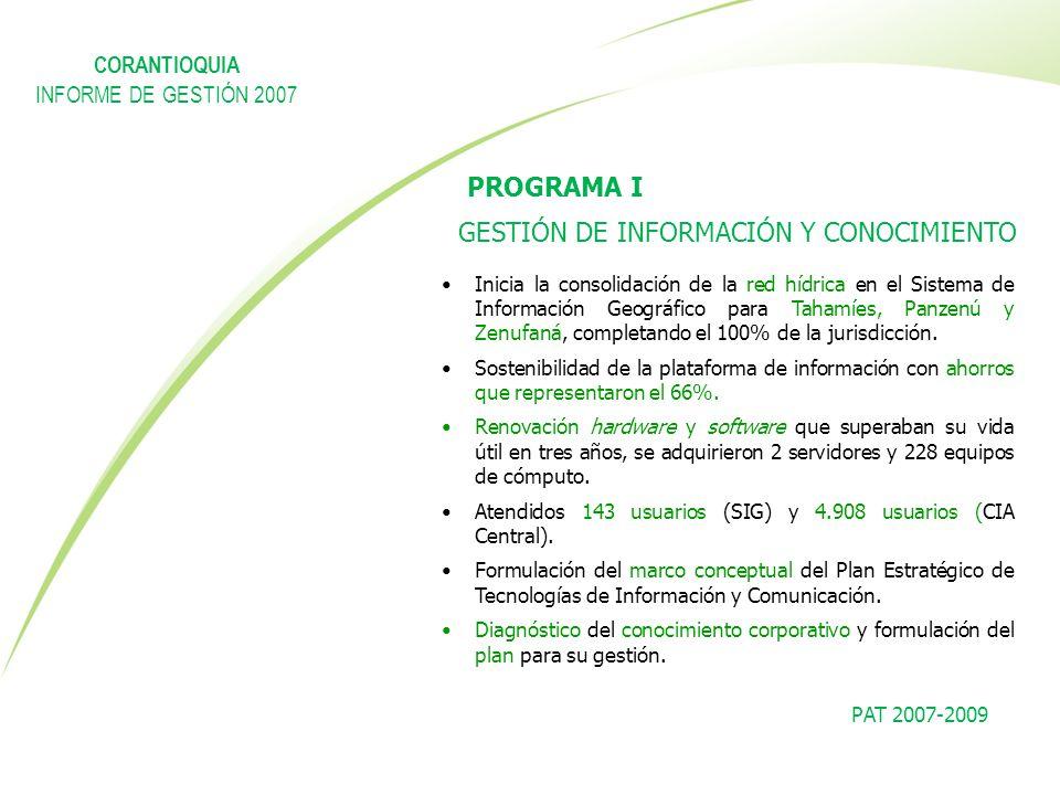 PROGRAMA I GESTIÓN DE INFORMACIÓN Y CONOCIMIENTO CORANTIOQUIA