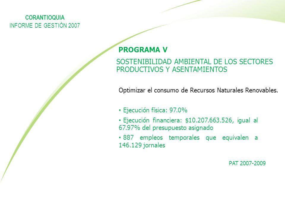 SOSTENIBILIDAD AMBIENTAL DE LOS SECTORES PRODUCTIVOS Y ASENTAMIENTOS