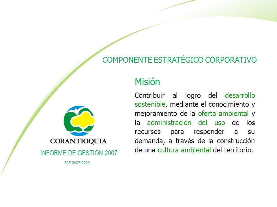 Misión COMPONENTE ESTRATÉGICO CORPORATIVO