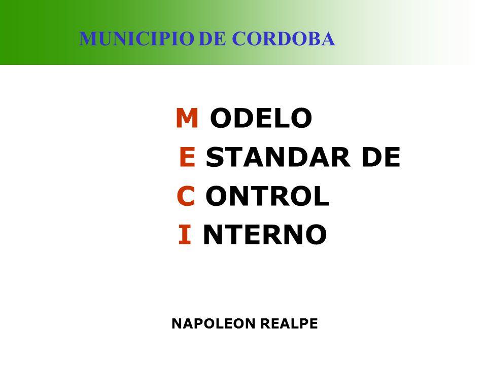 M ODELO E STANDAR DE C ONTROL I NTERNO