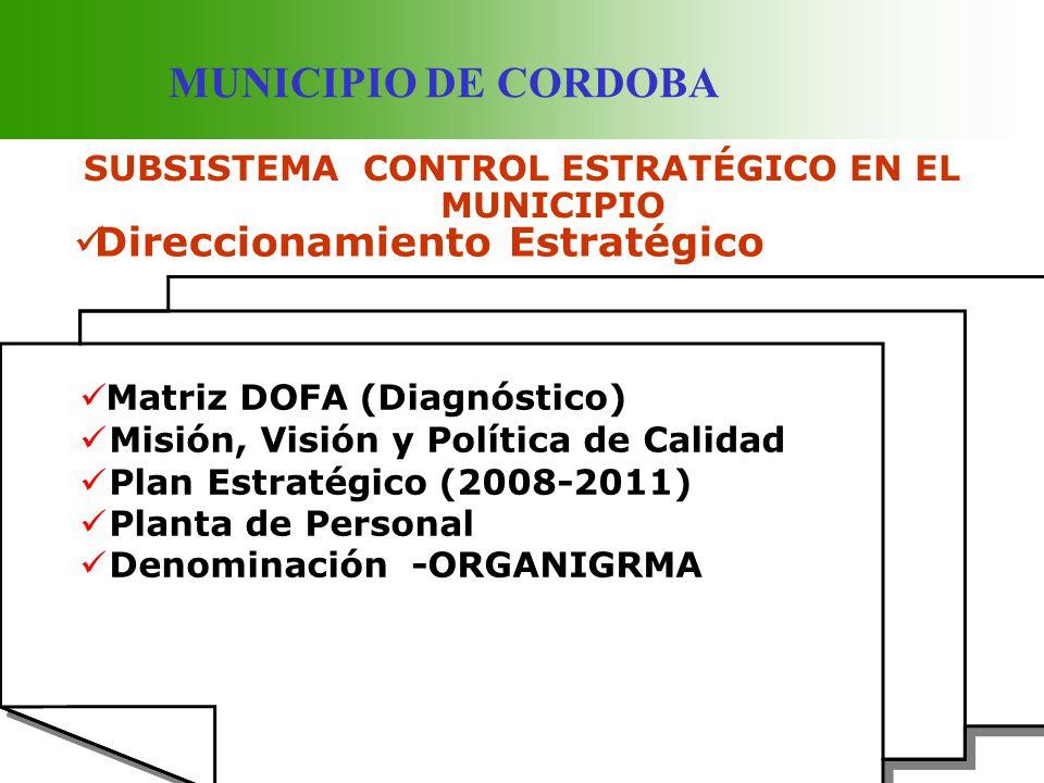 SUBSISTEMA CONTROL ESTRATÉGICO EN EL MUNICIPIO