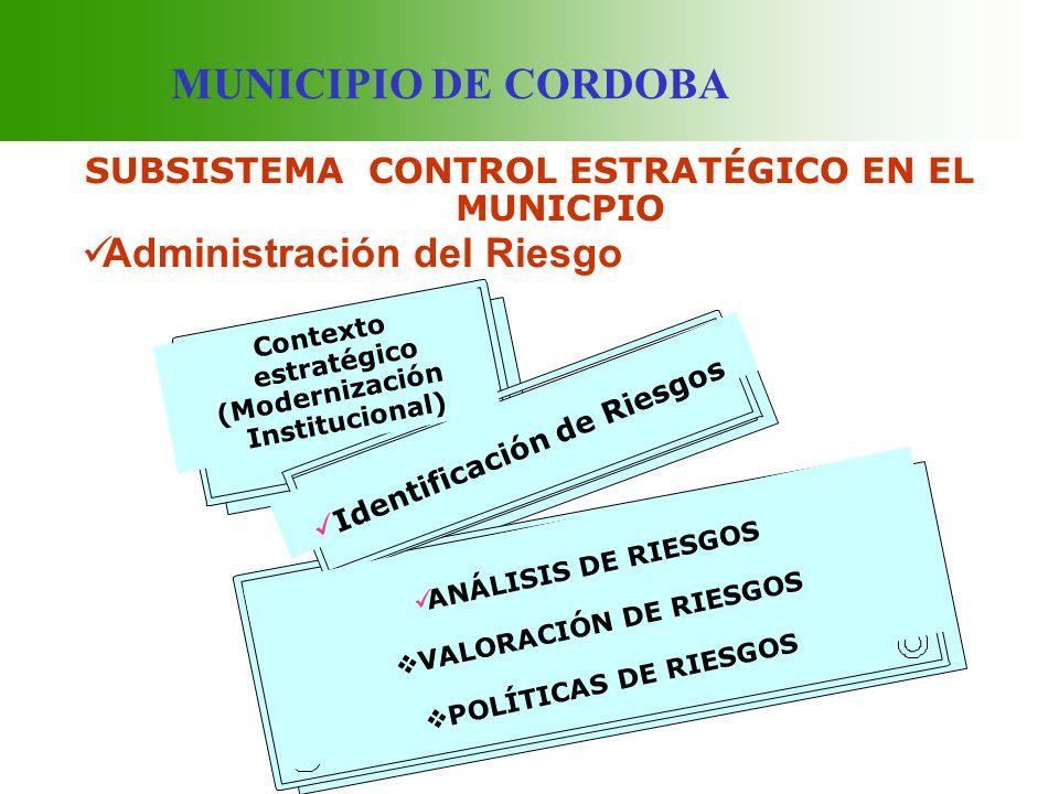 SUBSISTEMA CONTROL ESTRATÉGICO EN EL MUNICPIO
