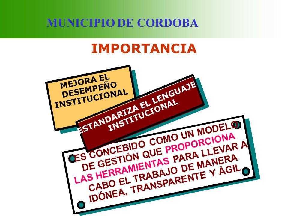 IMPORTANCIA MUNICIPIO DE CORDOBA