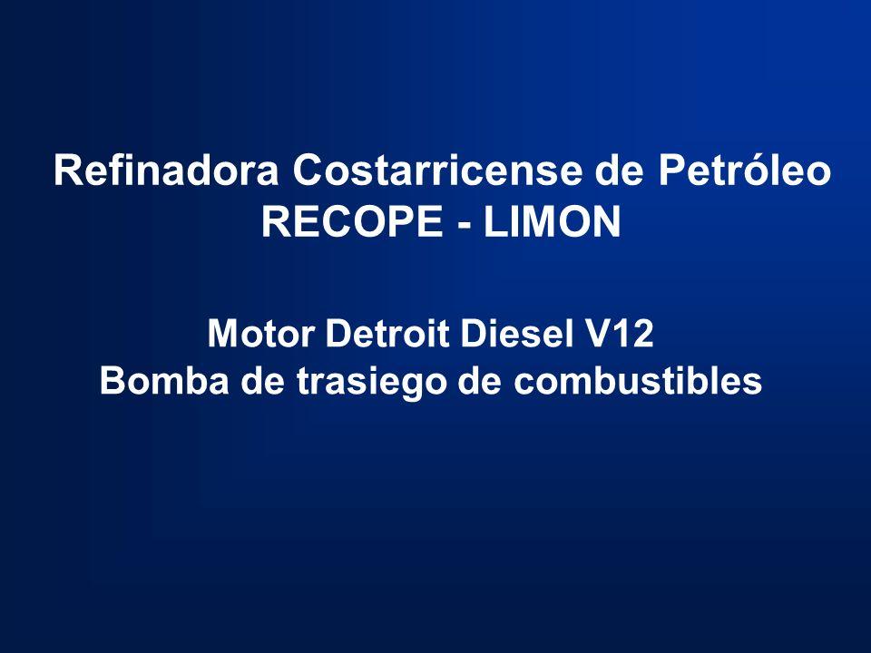 Refinadora Costarricense de Petróleo Bomba de trasiego de combustibles