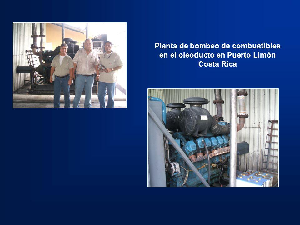 Planta de bombeo de combustibles en el oleoducto en Puerto Limón