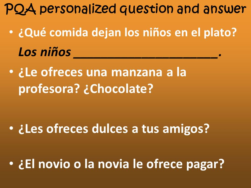 PQA personalized question and answer