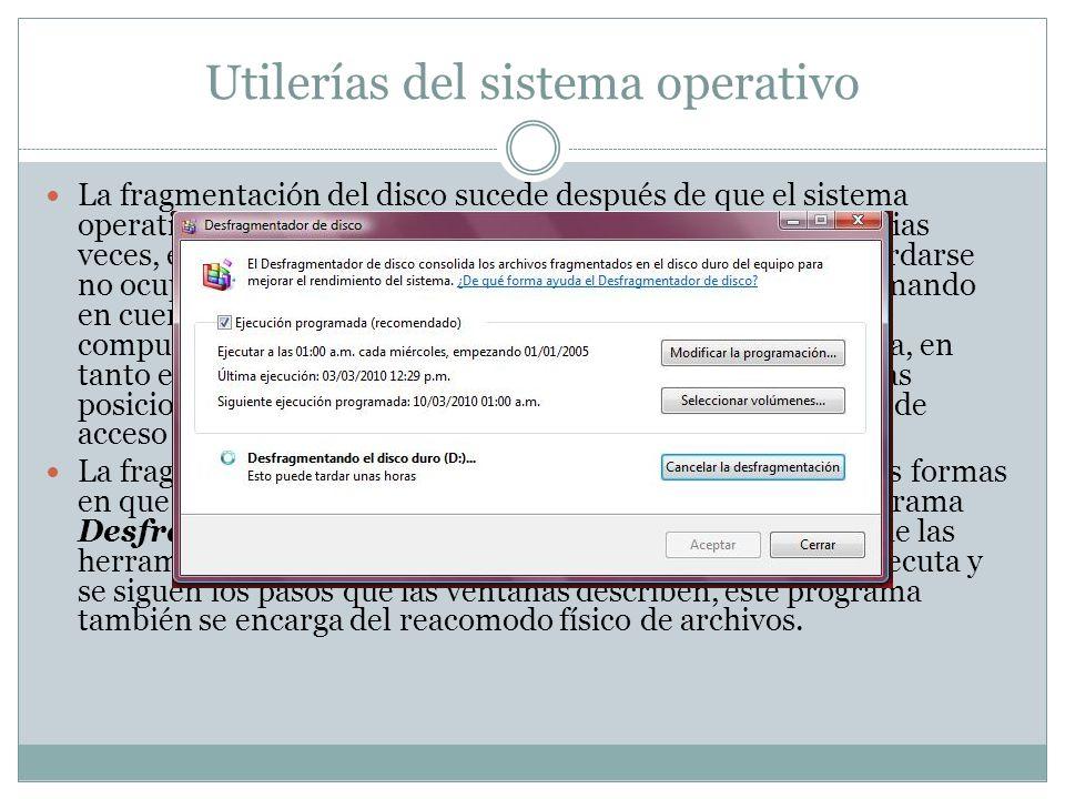 Utilerías del sistema operativo