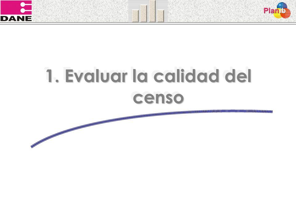 1. Evaluar la calidad del censo