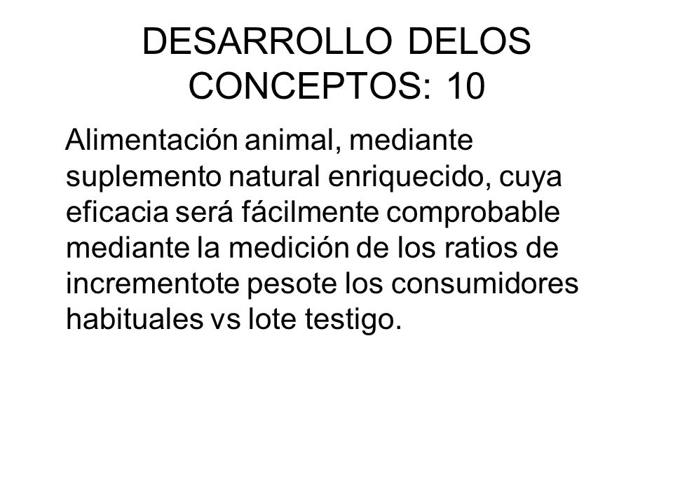 DESARROLLO DELOS CONCEPTOS: 10