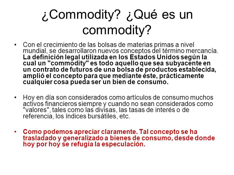 ¿Commodity ¿Qué es un commodity