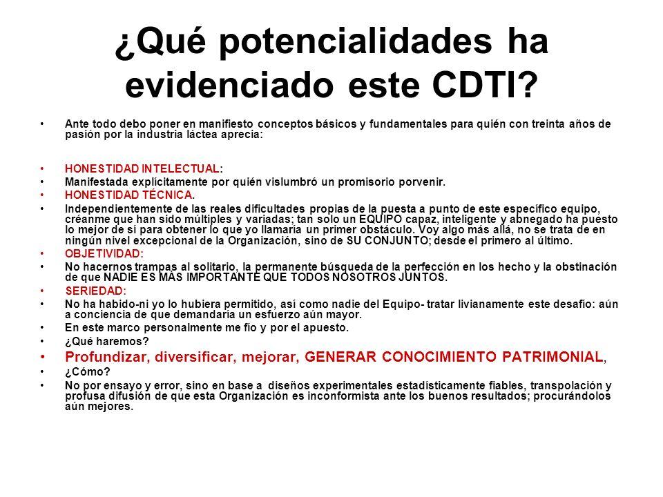 ¿Qué potencialidades ha evidenciado este CDTI