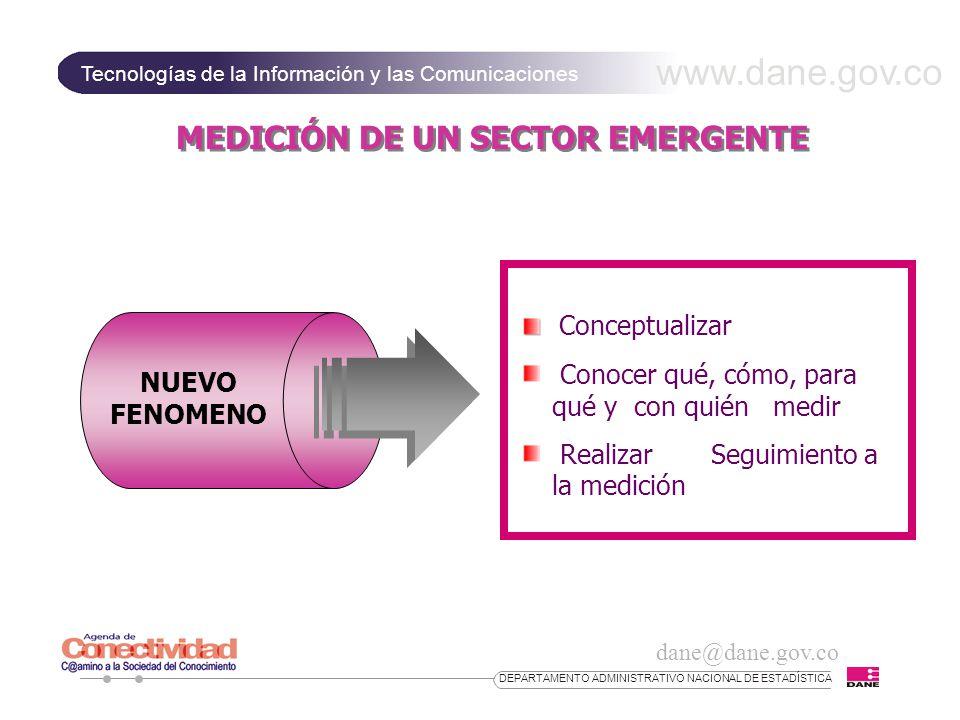 MEDICIÓN DE UN SECTOR EMERGENTE