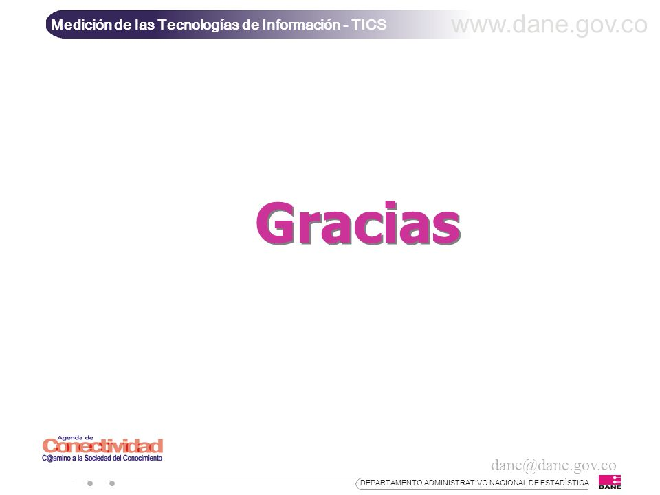 Gracias www.dane.gov.co dane@dane.gov.co