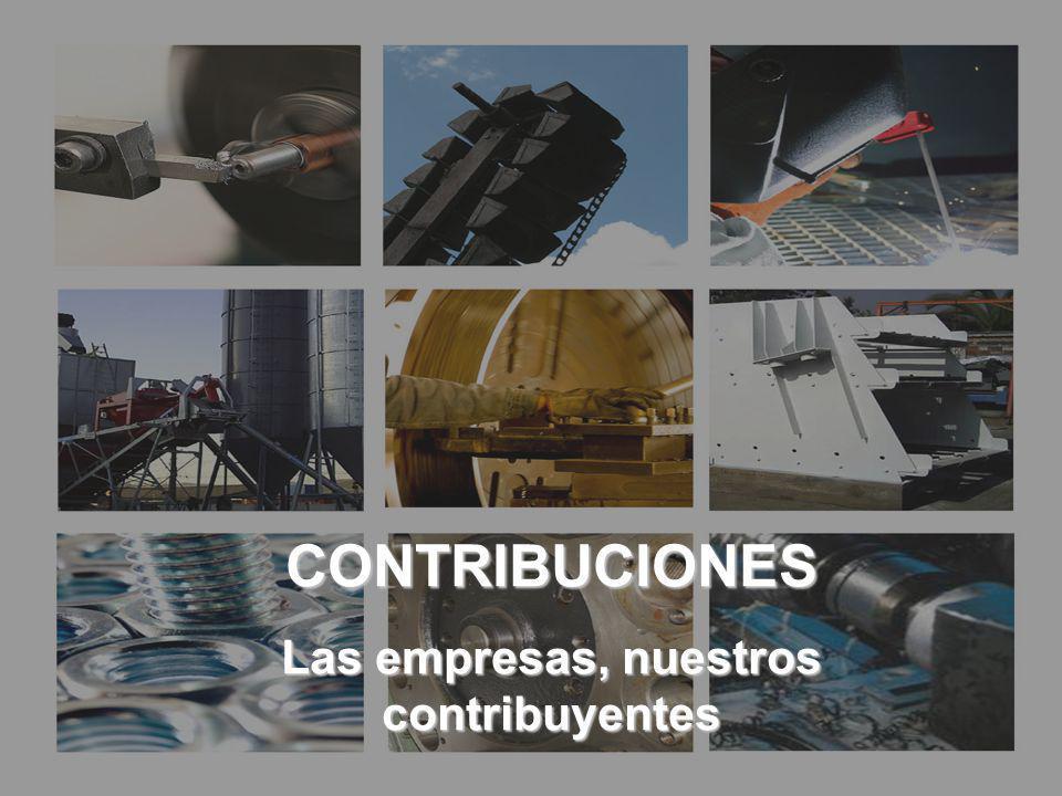 CONTRIBUCIONES Las empresas, nuestros contribuyentes CONTRIBUCIONES