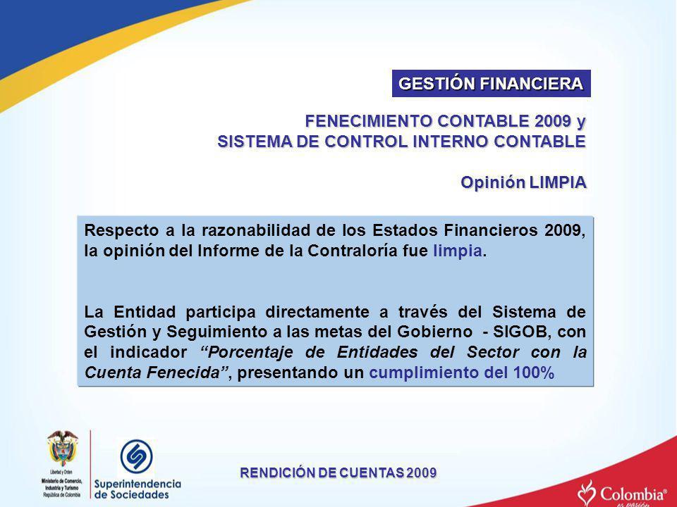 FENECIMIENTO CONTABLE 2009 y SISTEMA DE CONTROL INTERNO CONTABLE
