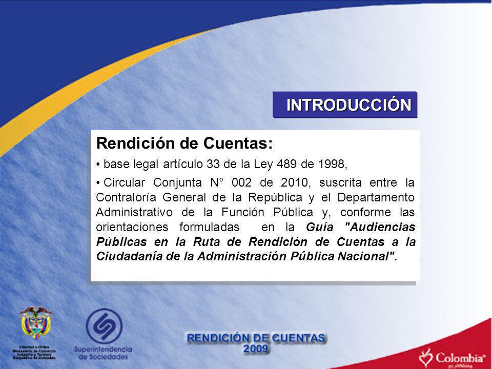 INTRODUCCIÓN Rendición de Cuentas: