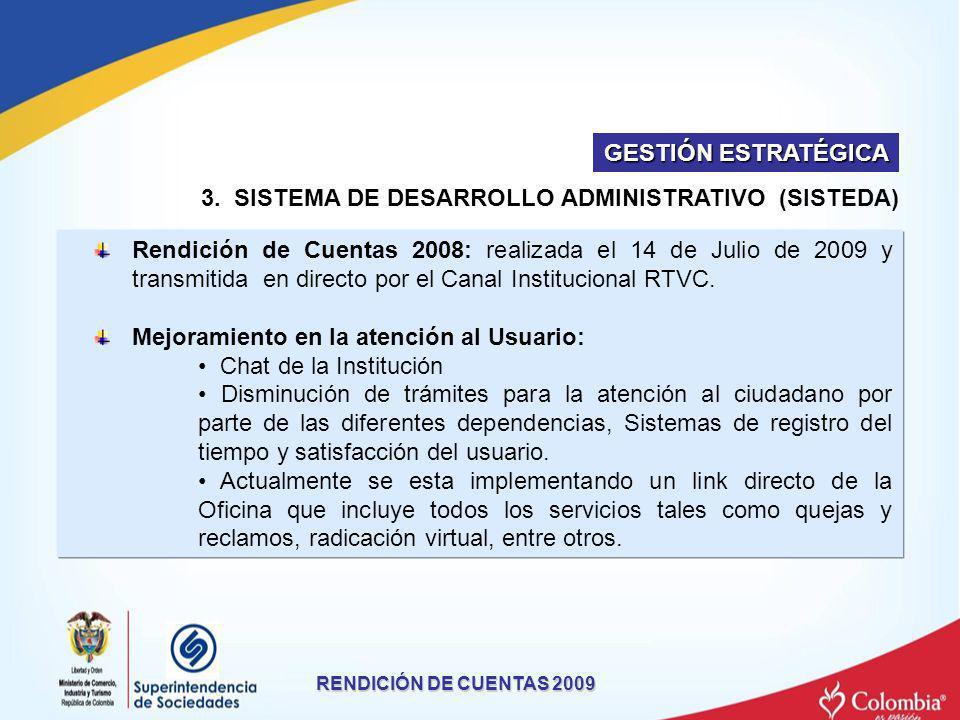 3. SISTEMA DE DESARROLLO ADMINISTRATIVO (SISTEDA)