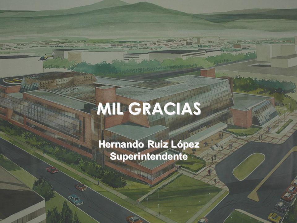 MIL GRACIAS Hernando Ruiz López Superintendente