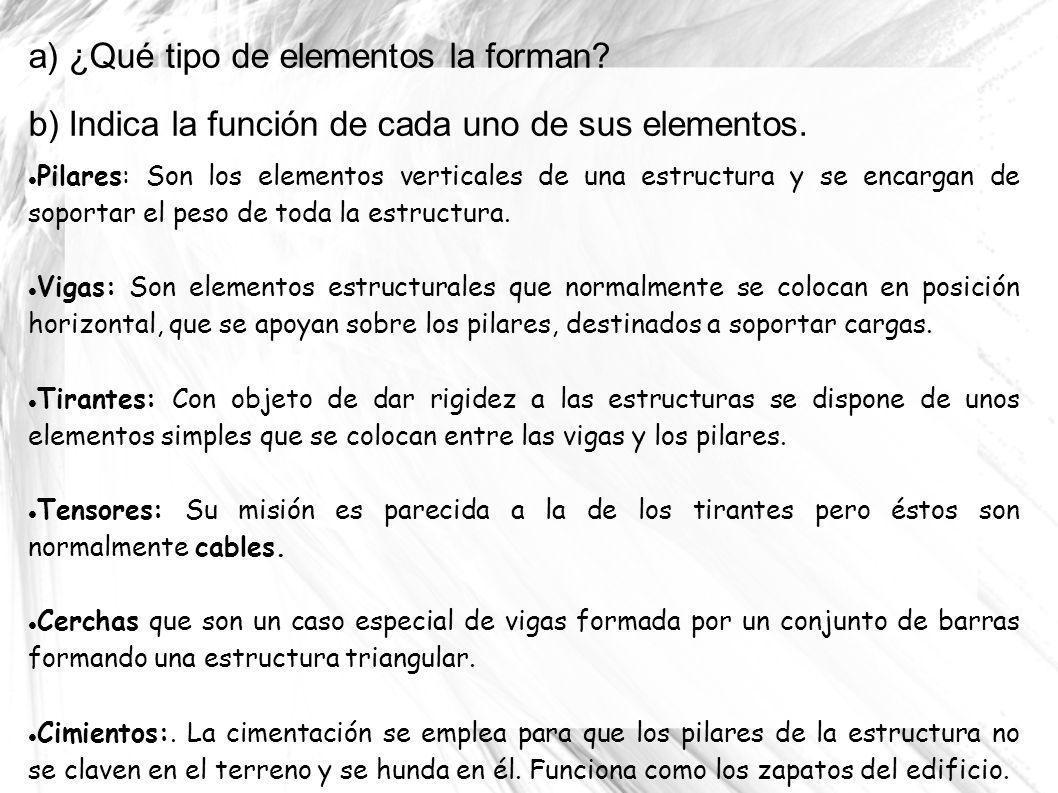 a) ¿Qué tipo de elementos la forman
