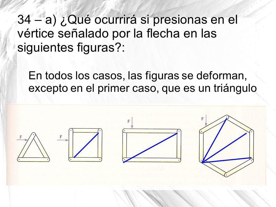 34 – a) ¿Qué ocurrirá si presionas en el vértice señalado por la flecha en las siguientes figuras :