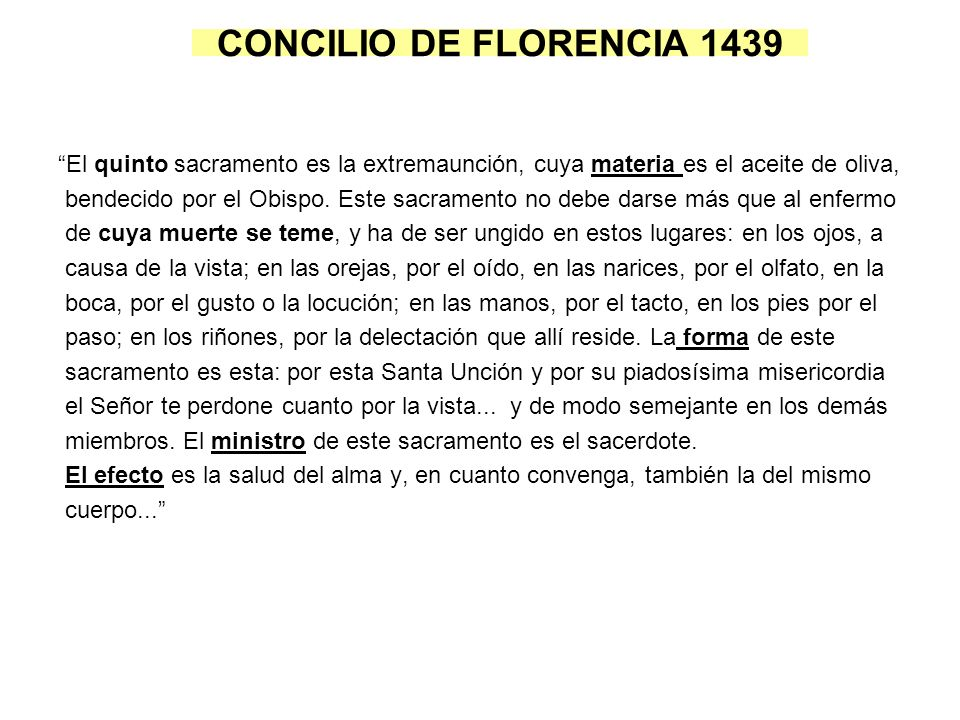 CONCILIO DE FLORENCIA 1439