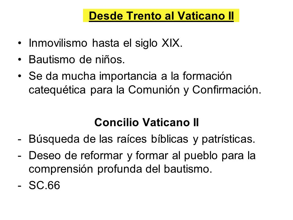 Desde Trento al Vaticano II