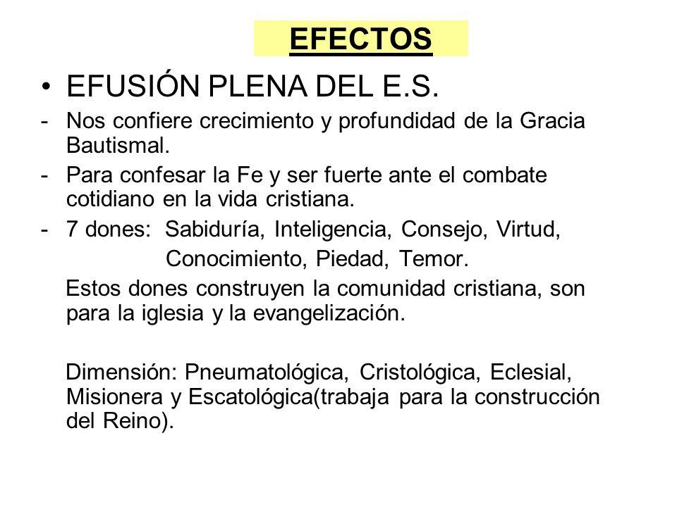 EFECTOS EFUSIÓN PLENA DEL E.S.