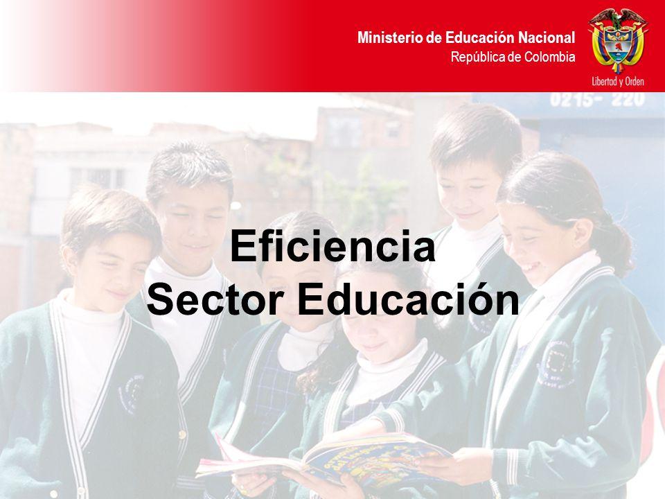 Eficiencia Sector Educación