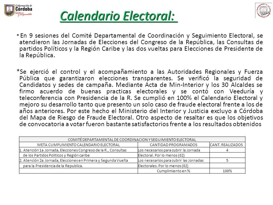Calendario Electoral: