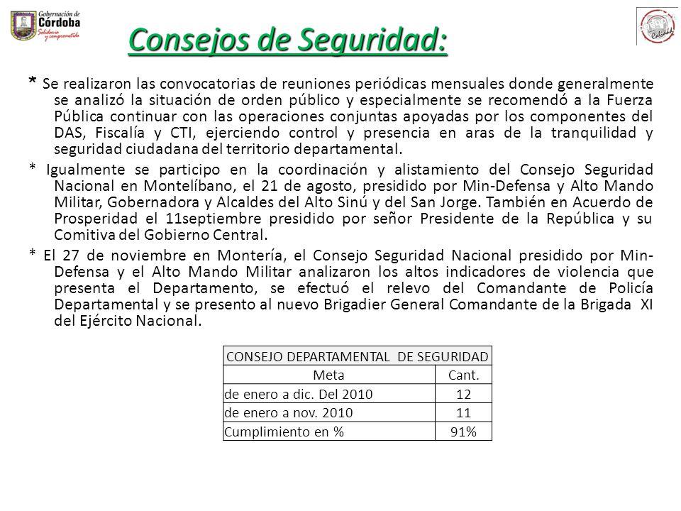 CONSEJO DEPARTAMENTAL DE SEGURIDAD