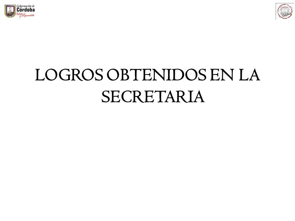 LOGROS OBTENIDOS EN LA SECRETARIA
