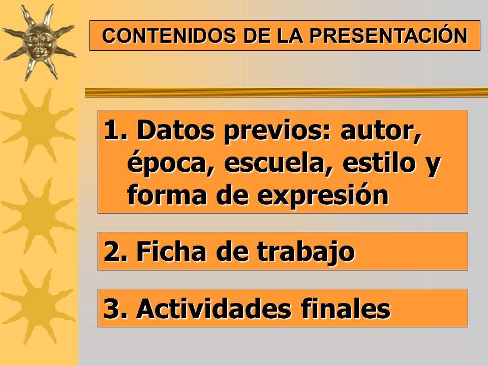 CONTENIDOS DE LA PRESENTACIÓN