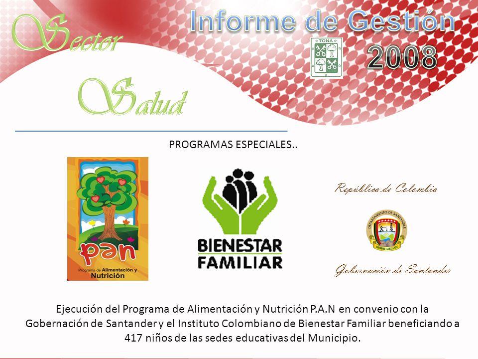 Sector Salud Informe de Gestión 2008 República de Colombia